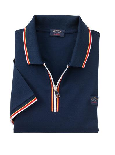 56afa17b83 Tipped Zip Pique Polo by Paul & Shark